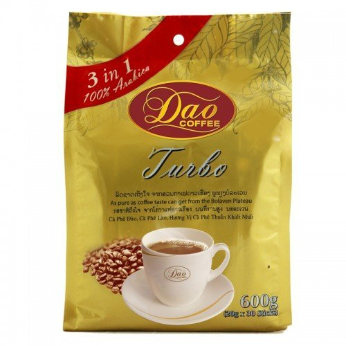 Amazon.com : 100% Arabica Dao Instant Coffee Turbo 3 in 1 Coffee Sticks 20g.x30sticks : Grocery & Gourmet Food