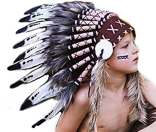 [K12- Indian headdress for 5 / 8 year old kid / children , hat , feather headdress] (Child Indian Headdress)