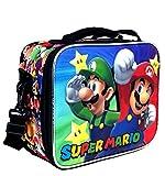 New Super Mario Bros School Insulated Lunch Bag Kids Boys
