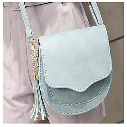 Bag Pink Black with Blue Light Light Blue Pastel Strap Adjustable Messenger BOHO Design Charm Purposefull Grey Beige Chic Women's Tassel EqSxwg