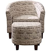 NHI Express 92010-16 Ashton Tub Chair with Ottoman, Multi