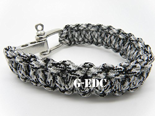 G-EDC-Ajustable-Premium-Paracord-Survival-Bracelet-with-Stainless-Steel-D-Shackle-Outdoor-Sports-Emergency-Survival-Kits-G4A