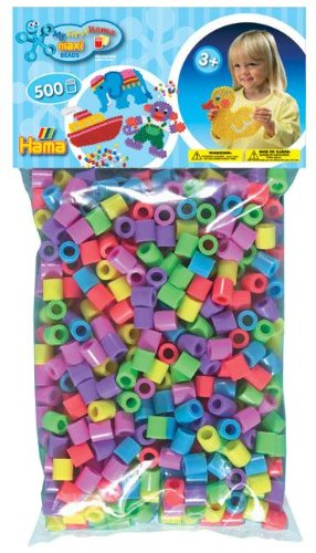 Hama Maxi Beads 500 Pastel Mix ToyCentre 108471