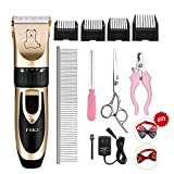 Dog Cat Clippers,Professional Cordless Heavy Duty Quiet...