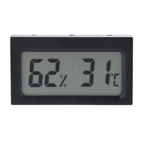 Asixx LCD Digital Termómetro Y Higrómetro, Medidor de Temperatura de Humedad,Pantalla LCD,