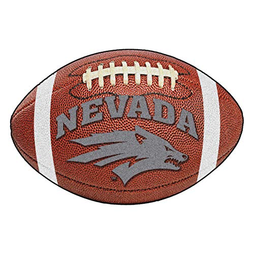 FANMATS NCAA University of Nevada Wolf Pack Nylon Face Football Rug