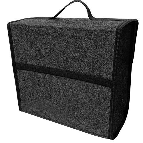 Caja de Almacenamiento de Almacenamiento para Coche belupai Organizador de Maletero de Coche Plegable de Fieltro Suave