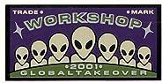 Alien Workshop - Old School NOS Skateboard Sticker - 8cm wide approx. skate board bmx guitar reg