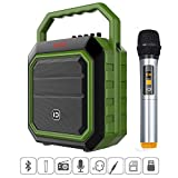 Portable Wireless PA System with Microphone Set, 30W Bluetooth Voice Amplifier loud Speaker for Party, Karaoke, Wedding and Other Outdoor Activities, Support FM Radio/AUX/USB Input/TF Card