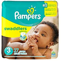 Pañales desechables Pampers Swaddlers Tamaño 3, 27 unidades, JUMBO