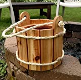 Cedar Bucket Planter with Rope Handle