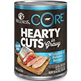 Wellness Core® Hearty Cuts Natural Wet Grain Free Canned Dog Food, Whitefish & Salmon, 12.5-Ounce Can (Pack of 12)