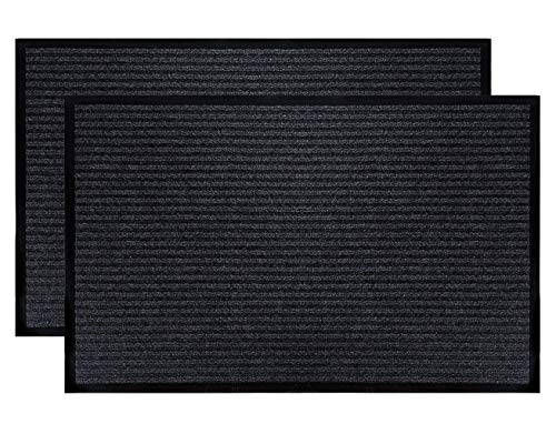 Fasmov Indoor Outdoor Entrance Rug Floor Mats Shoe Scraper Doormat,17.7