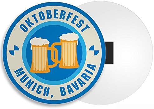 Munich Bavi/ère Festival de la bi/ère Allemande 4232 Destination Vinyl Magnets Oktoberfest Aimant