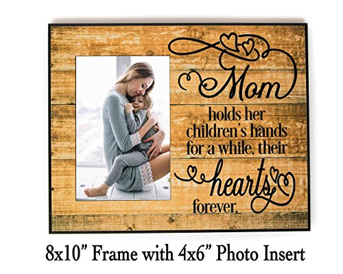 "A mother holds her child's hand 8x10"" Frame with 4x6"" Photo Insert, Made in USA by PaisleyGroveGifts Mother Child Photo"