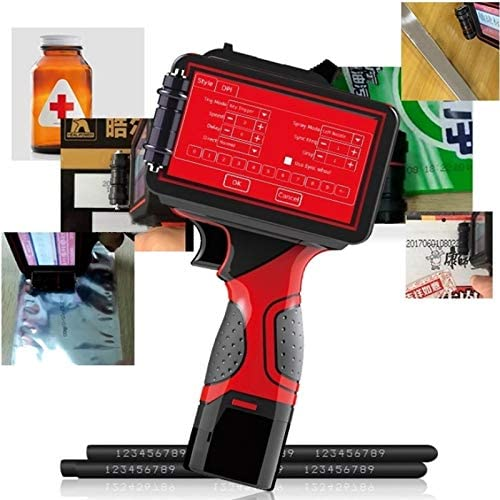 Hand Intelligent Inkjet-Drucker, 600 DPI 4-25.4Mm Großschrift Handplastiktasche Karton Kennzeichnung Produktion Datum Inkjet-Drucker