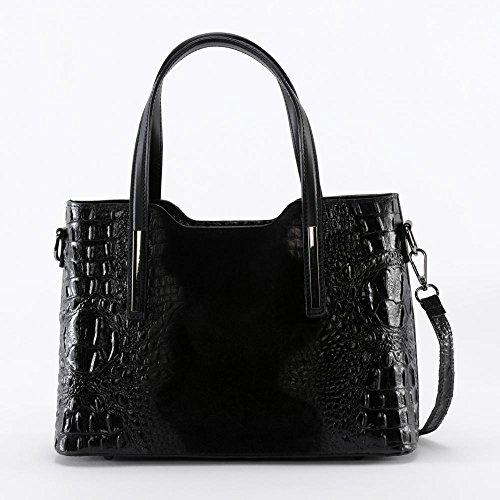 BAG Assop Modèle à Noir MY effet Main OH Nubuck cuir et croco Sac 5fPxvwS