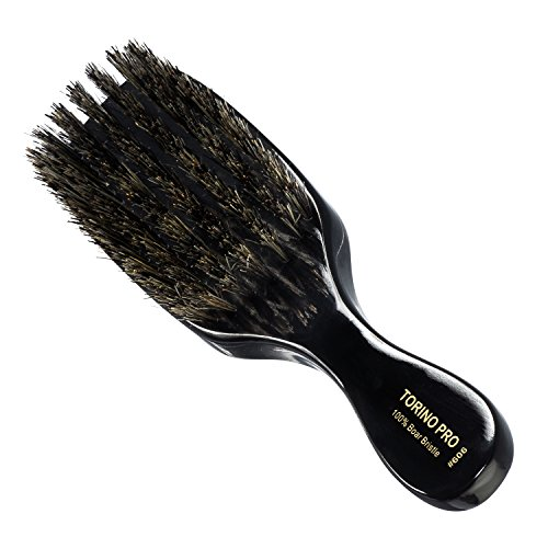 Torino Pro Wave Brush #606 By Brush King - Medium 360 Waves Brush - 7 Row, Medium Wave Brush - Made with 100% Boar Bristles -True Texture Medium - All Purpose 360 Waves Brush - Great Pull (Torino Stock)