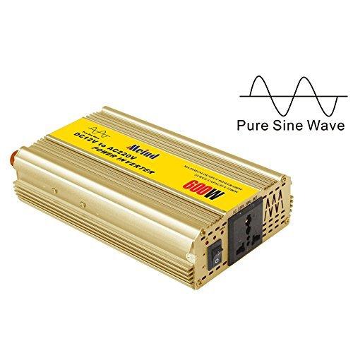 Meind pure sine wave power inverter 600W DC 12V to AC 220V peak 1200W Car power converter