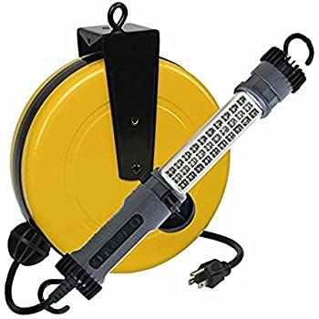 Bon LED Retractable Reel Work Auto Shop Repair Light 300 Lumen Alert Stamping  3230SMS