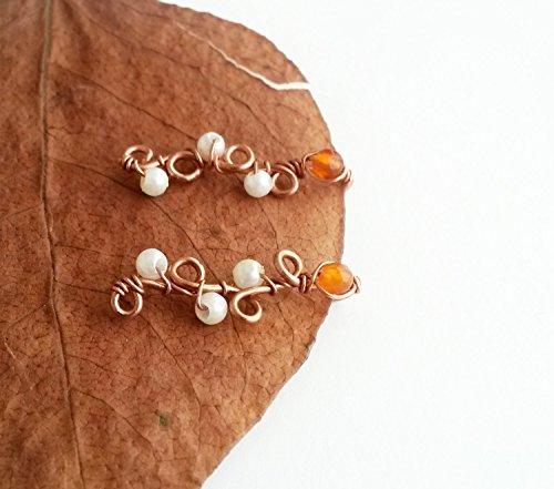 - Ear climber Ear climber earring Agate jewelry Agate earrings Pierced earring Climber earrings Orange agate ()
