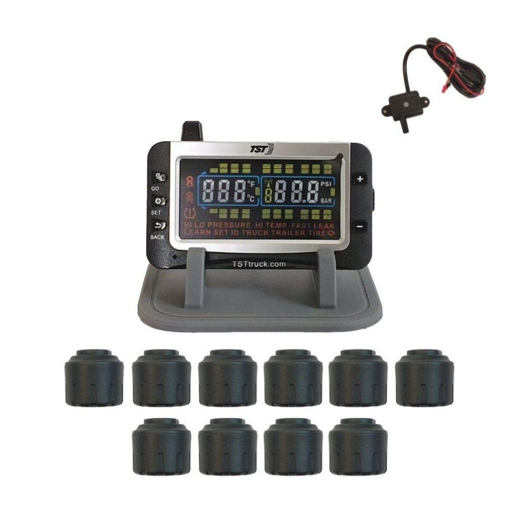 Truck Systems Technology TST 507 Tire Pressure Monitor w/10 Cap Sensors with Color Display by Truck Systems Technology