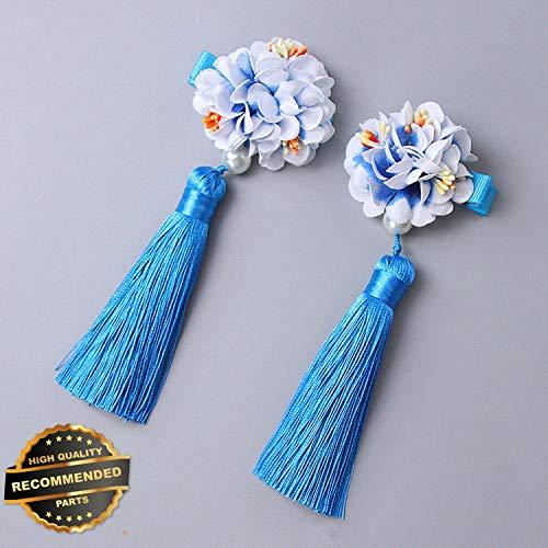 Gatton Premium New 1Pair Chinese Style Fur Pompom Ball Hair Clips Tassel Hairpin Hanfu Headwear New | Style HRCL-M182012801