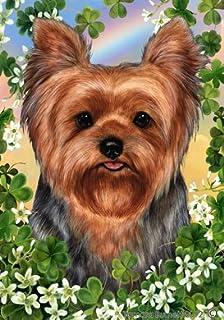 Yorkie Puppy Cut   Tamara Burnett St Patricks Garden Flag