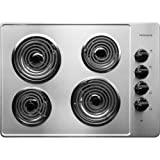 "Appliances : Frigidaire FFEC3005LS 30"" Electric Cooktop, Stainless"