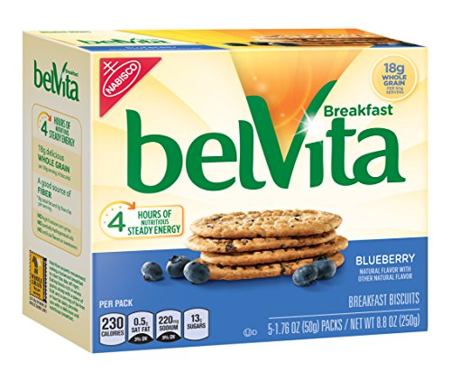 Belvita Breakfast Biscuit, Blueberry, 5 Count, 8.8 Ounce (Pack of 6)