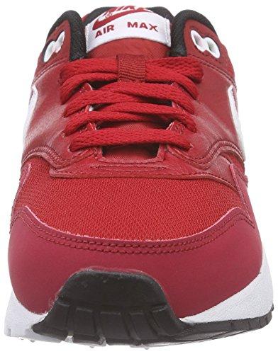 Nike Air Max 1 (GS) Zapatillas de running, Niños Rojo / Blanco / Negro (Gym Red / White-Black)