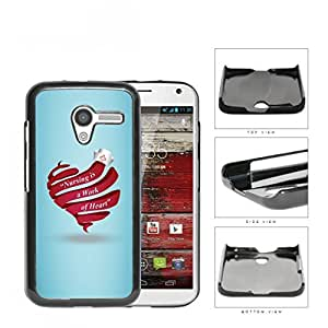 RN Nurse Red Heart & Quote Nursing is a Work of Heart Motorola (Moto X) Hard Snap on Plastic Cell Phone Case Cover by icecream design