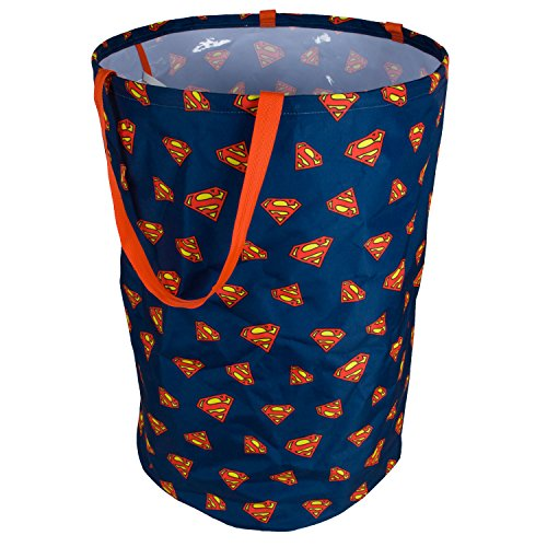 Superman Laundry Hamper | Clothes Hamper for Closet, Bedroom Organizer, Laundry Basket | DC Comics Folding Laundry Basket for Clothes, Children s Stuffed Animals, Kids Toys