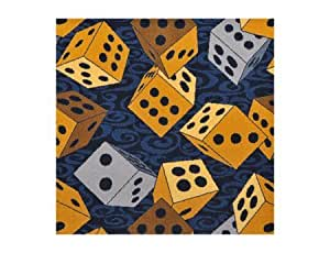 "Joy Carpets Games People Play - Gaming & Sports Area Rugs Roll the Dice, 7'8"" x 10'9"", Navy"