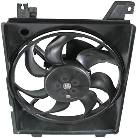 AC A//C Condenser Cooling Fan w//Motor Assembly for 01-06 Hyundai Elantra AT