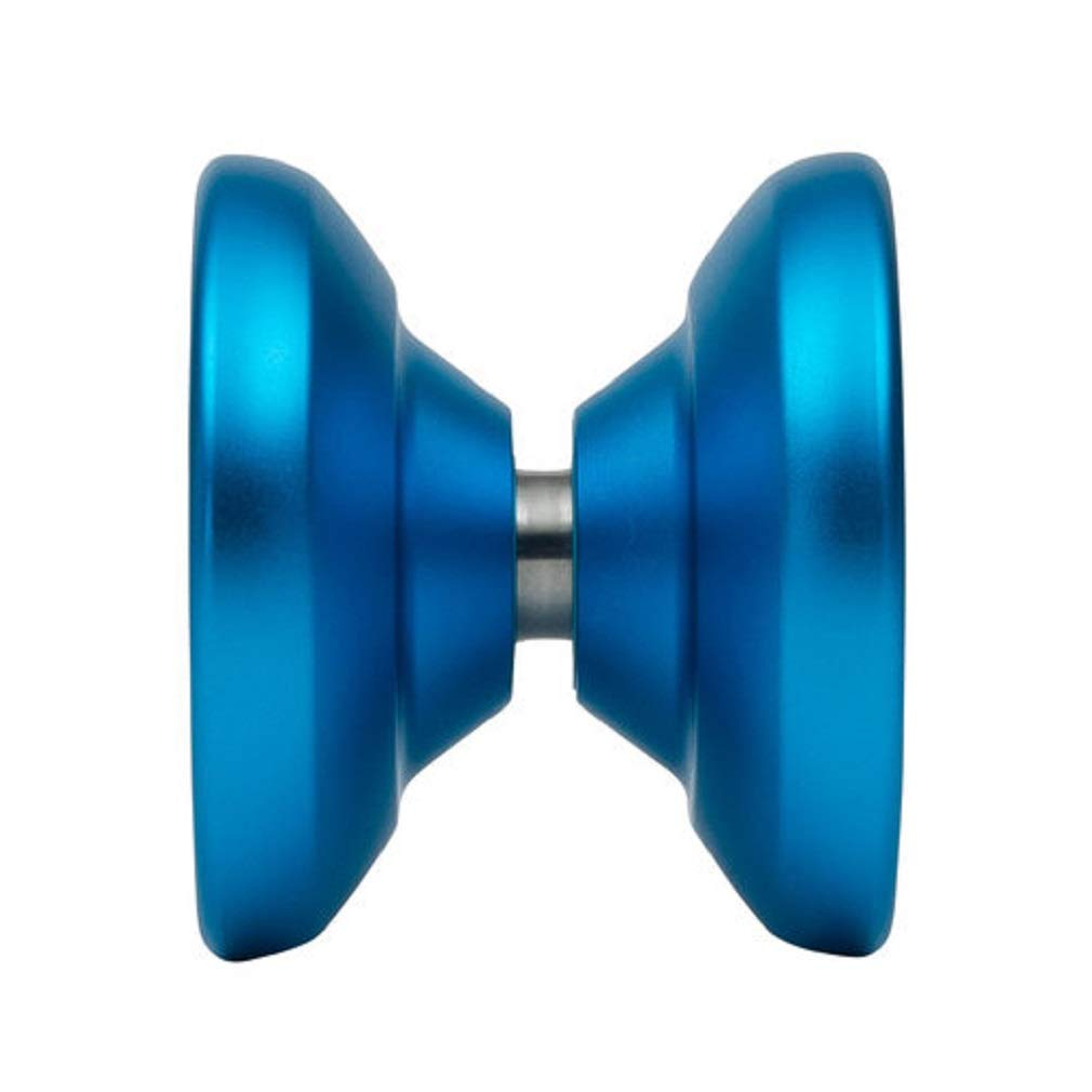YoYoFactory Wide Angle Shutter Yo-Yo Blasted Aluminum Finish (Aqua) by YoYoFactory (Image #2)