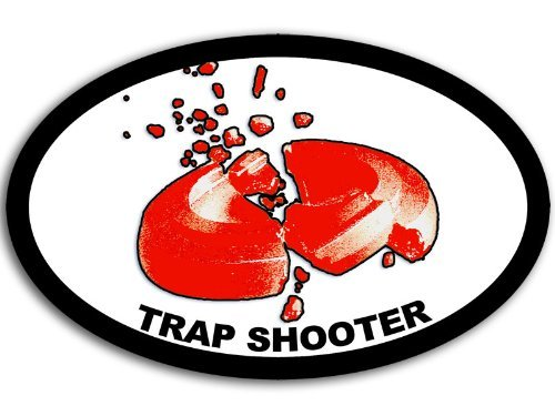 OVAL Trap Shooter Sticker (gun - The Usa Shooter