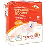 Tranquility TopLiner Booster Contour Pads, Super-Plus, Extra-Large Diaper Inserts Pk/12