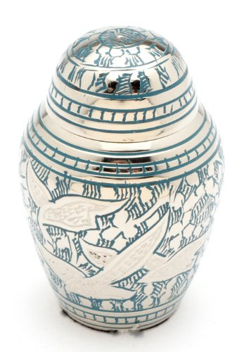Urns UK Cremation Memorial Keepsake Urn Althorp Blue 3 Keepsake