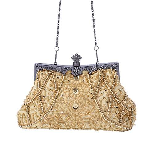Prom Bag Women Evening Sequined Gray Vintage Dabixx Purple Party Purse Handbag Clutch Bead Wedding qAxH6CZw