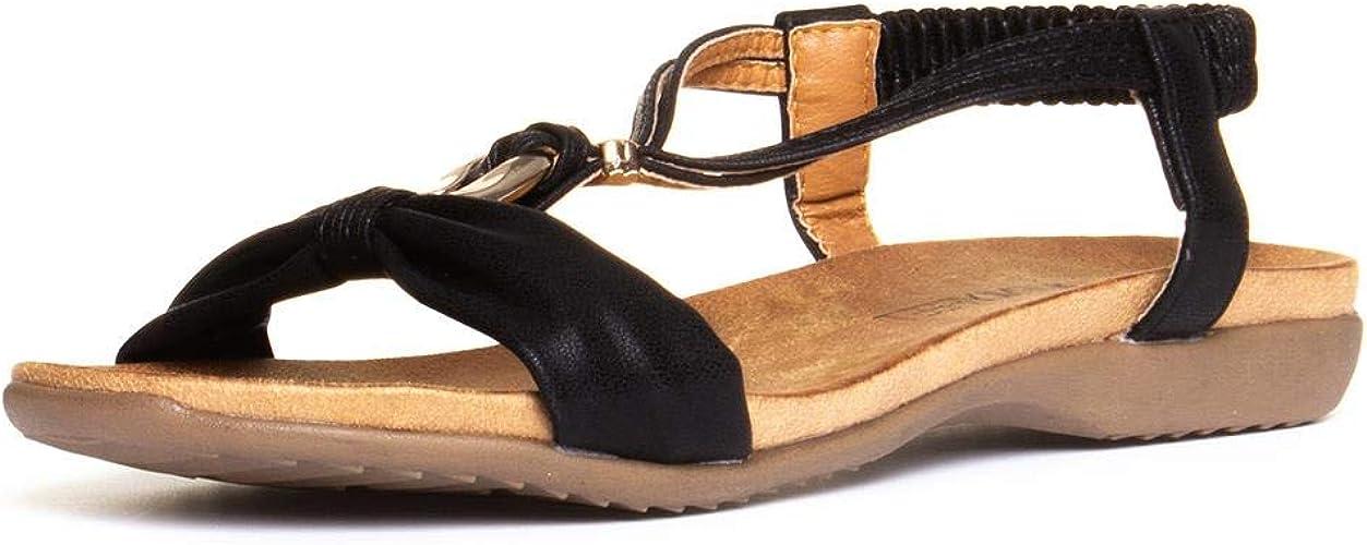 Heavenly Feet Campari Womens Black Slip