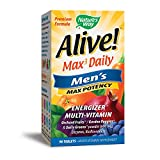Nature's Way Alive! Max3 Daily Men's Multivitamin, Food-Based Blends and Antioxidants, 90 Tablets