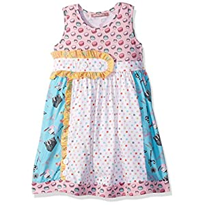 Jelly the Pug Little Girls' Spring in Paris Sally Dress, Multi, 6