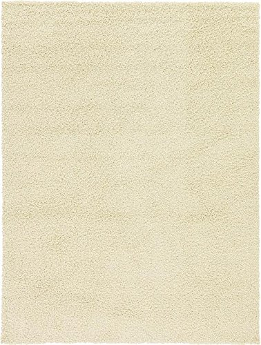 8x11 Ivory Area Rugs (Unique Loom Solid Shag Collection Pure Ivory 8 x 11 Area Rug (8' x 11'))