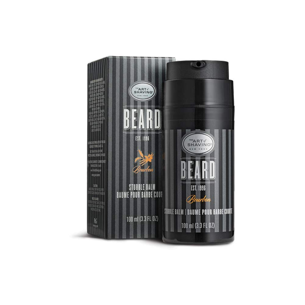The Art of Shaving Beard Balm - Beard Conditioner for Stubble to Hydrate Skin and Hair, Bourbon, 3.3 Ounce