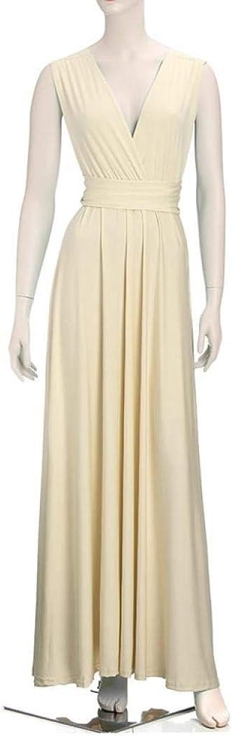 Auppy Women Elegant Evening Prom Dress Party Wedding Dress High Waist Convertible Long Maxi Dress Floor Length Bandage Pageant Prom Ball Gowns