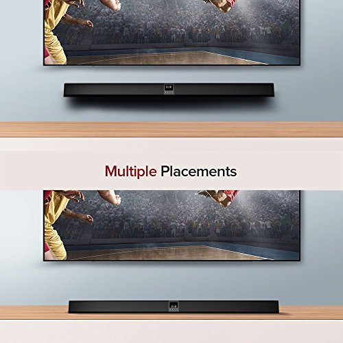 Sound bar, TaoTronics Sound bars for TV, 40-Inch Soundbar for TV with Bluetooth and Wired Connections, Bluetooth 4.2 Speaker with Built-in Subwoofers, Deep Bass, Display Screen, Home Theater Audio