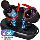 [Upgraded 2020] Premium True Wireless Earbuds - 36 Hours Total with Strong Bluetooth 5.0, IPX8 Waterproof TWS Stereo Headphones in-Ear Built-in Mic Headset Sound with Deep Bass for Sport, Gym, Running