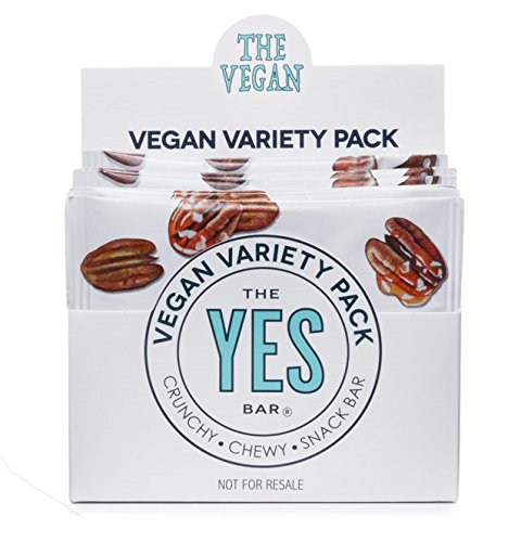 Vegan Variety Pack - Gourmet Gluten-Free, Low Sugar, Paleo Snack Bar (Pack of 6)
