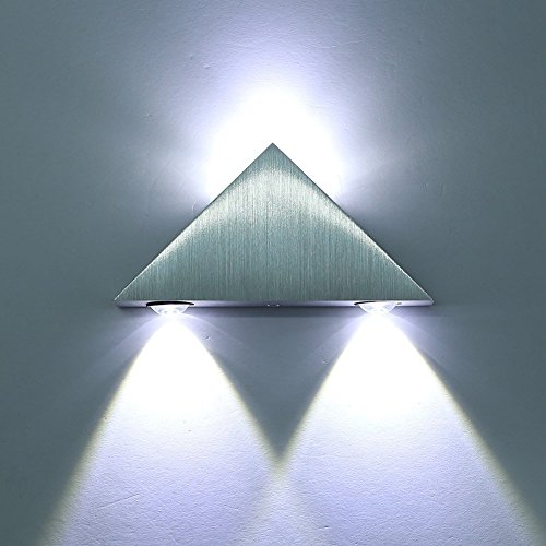 Cmyk® Aluminum Modern Wall Sconce Triangle Designed 3w LED Cold White